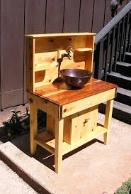 outdoor kitchen sinks and faucets custom cedar potting bench water station outdoor kitchen