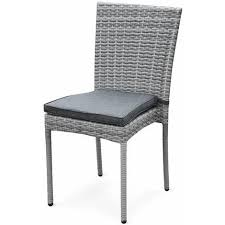 Chaise D Ext Rieur Salon De Jardin En Résine Tressée 6 Chaises Nuances Gris Table D