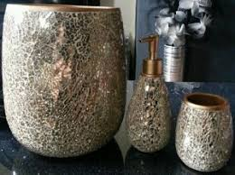 Crackle Glass Bathroom Accessories by Mosaic Bathroom Accessories Home Design Ideas And Pictures