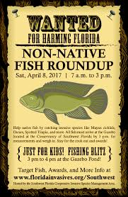 2017 non native fish roundup florida invasive species partnership