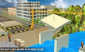 river bridge road construction crane simulator android apps on