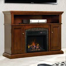 cherry electric fireplace entertainment center dark media with