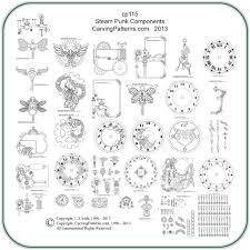 steampunk components carving u0026 pyrography patterns by l s irish