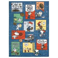 Can You Shoo An Area Rug Peanuts Sports Fan Blue 5 Ft X 7 Ft Area Rug 260277 The Home Depot