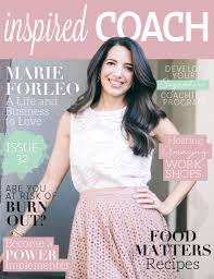 inspired coach magazine with marie forleo beautiful you
