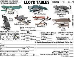 lloyd 402 flexion elevation table diagrams