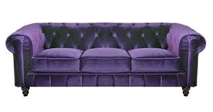 canape violet deco in canape 3 places velours violet chesterfield can