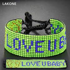 friendship bracelet with name images Personalized seed bead friendship bracelet custom name macrame jpg