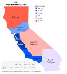 state map of california california california 6 states map