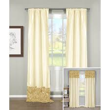 L Shape Curtain Rod Decor Cream Grommet Curtains With L Shaped Curtain Rod And Cozy In