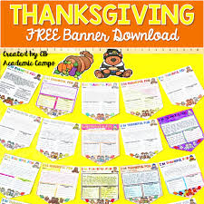 four ela thanksgiving activities and academic eb academic cs