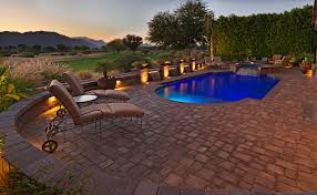 tub deck ideas deck contemporary with patio paver pool deck
