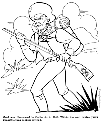 California Gold Rush American History For Kid Yankee Doodle Yankee Doodle Coloring Page 2
