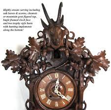 Antique Cuckoo Clock Spectacular Antique Black Forest 26