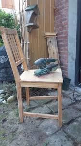 chaises de cuisine en pin chaise relookée déco cuisine jardinage et truc ecolo