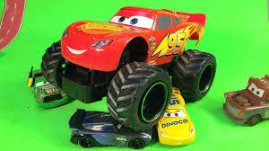 lightning mcqueen monster truck videos disney cars 3 lightning mcqueen monster truck jackson storm disney