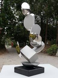 stainless steel garden or yard outside and outdoor sculpture by