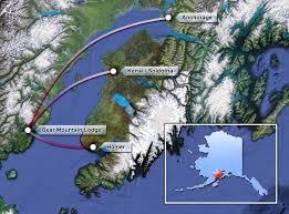 Where Is Alaska On The Us Map Bear Mountain Lodge Alaska Bear Viewing Lodging Chinitna Bay