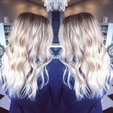 Long Blonde Wavy Hair Extensions by Bright Platinum Blonde Balayage For Beige Blonde Wavy Long Hair