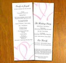 wedding programs template free free wedding templates