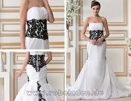 brautkleid schwarz weiss brautkleider lang schwarz weiß taft meerjungfrau