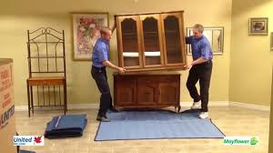 dining room hutches highland moving how to blanket wrap a dining room hutch top youtube