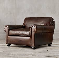 lancaster leather chair and a half