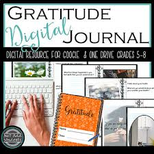 thanksgiving journal digital gratitude journal 32 days of thanksgiving by just add students