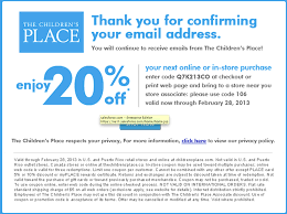 the children u0027s place coupon codes may 2015