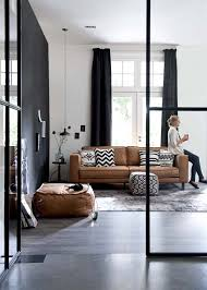 Cognac Leather Sofa by Iterior Trends Tan And Cognac Leather