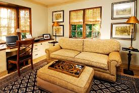 Home Office With Sofa Pull Out Sofa Bed Home Office Contemporary With Bookshelves Built