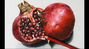how i draw a pomegranate hyperrealistic art youtube