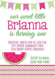 fun with summer citrus watermelon slices party invitations and
