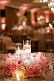 floral wreath wedding centerpieces with floating candles 5 ideas