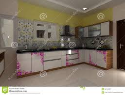 3d modern kitchen interior design stock illustration image 52724337