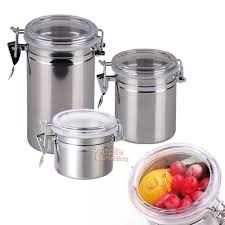 stainless steel kitchen canisters stainless steel airtight sealed canister coffee flour sugar tea