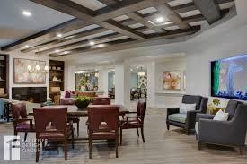 senior living designed by faulkner design reception entry