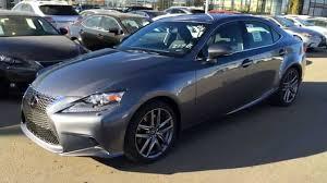 used 2015 lexus is 350 new grey on black 2015 lexus is 350 awd f sport series 3 review