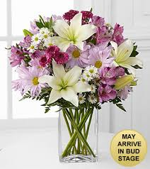 Flowers Delivered With Vase Lavender Fields Mixed Flower Bouquet Vase Included