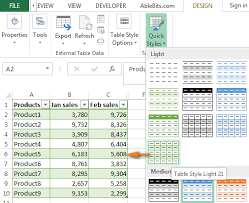 Change Table Style In Excel How To Highlight Every Other Row Or Column In Excel To Alternate
