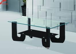 sofa center table glass top glass high gloss coffee table models and wooden tea table with