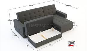 canap d angle pouf canapé d angle convertible lit réversible en tissu blue gris avec