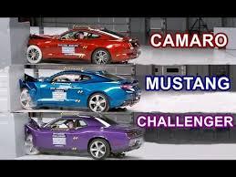challenger camaro mustang 2016 car crash tests camaro mustang challenger