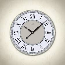 olympia i 23in large wall clock in white beige black