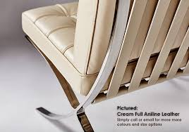 The Barcelona Chair Introducing A New Cream Leather For Our Barcelona Chair