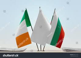 Flag Of Ireland Flags Ireland Bulgaria White Flag Middle Stock Photo 766171273