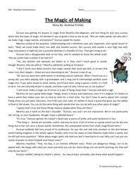 a chat with a dog trainer fifth grade reading comprehension
