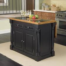 black granite top kitchen island roll out leg granite top kitchen island in black and oak 5009 94