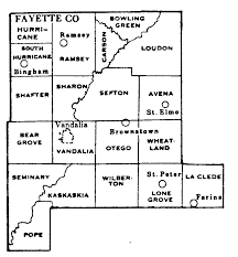 fayette county maps fayette county illinois maps and gazetteers