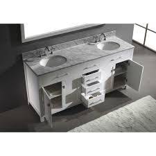 Marble Sink Vanity Virtu Usa Caroline 72 Inch White Marble Sink Bathroom